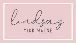 Lindsay Mick Watne Logo Pink png