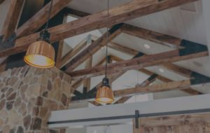 Wood Beams and Barn Door Modern Farmhouse